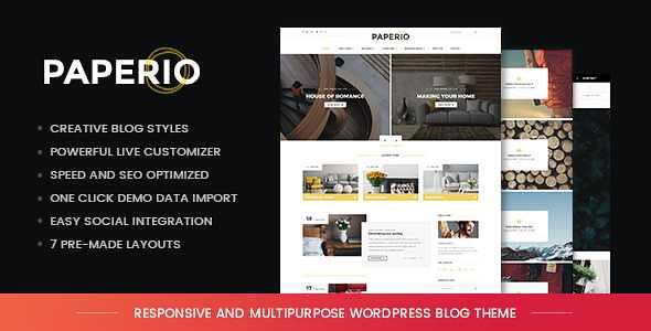 Paperio WordPress Theme free download