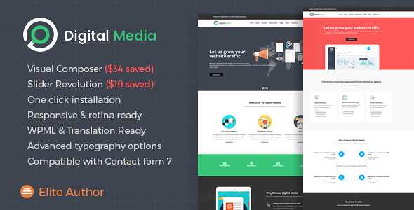 Digital Media WordPress Theme free download