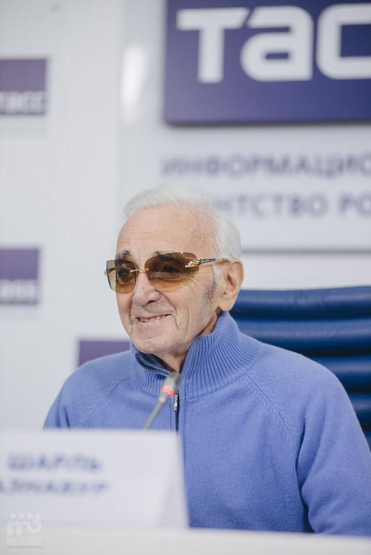 Шарль Азнавур пресс-конференция ТАСС (37)