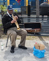 Saxaphone Player, 2017 Yankees Home Opener at Yankee Stadium, The Bronx, New York City