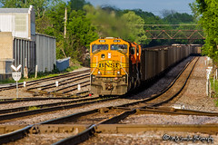 BNSF 8818 | EMD SD70MAC | BNSF Thayer South Subdivision