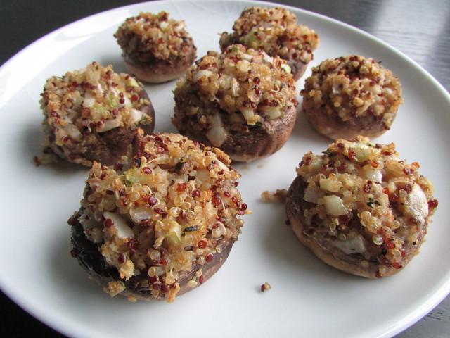quinoa stuffed mushrooms on twothirtyate.com