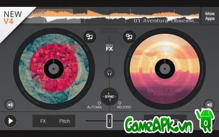 Ứng dụng edjing PE – Turntables DJ Mix v4.2.0 cho Android