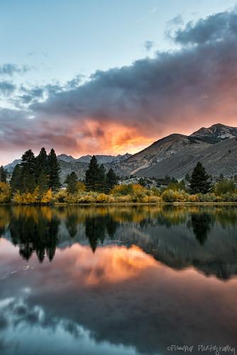 autumn sunset fall reflections easternsierra bishopcreekcanyon aspendell