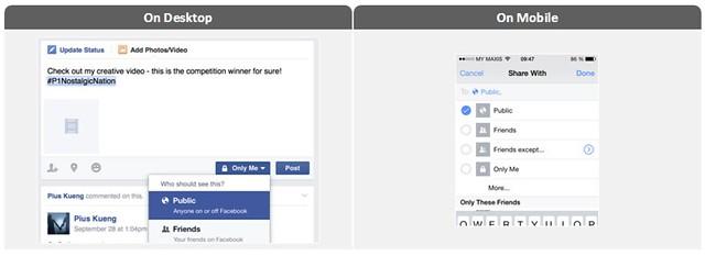 Cara Public Status facebook melalui dekstop dan mobile