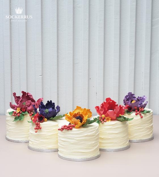 bröllop höst tårta