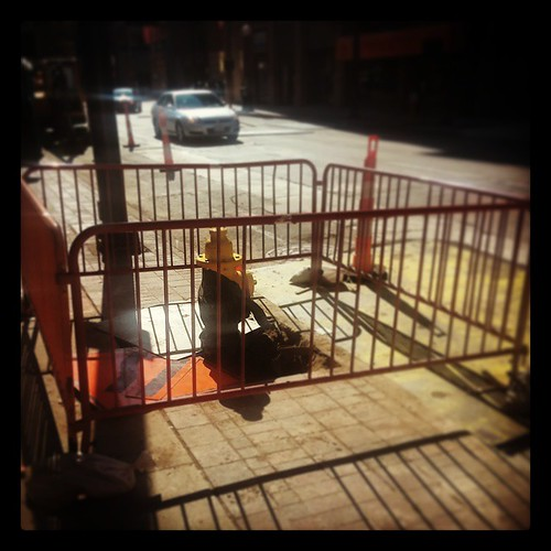 The safest fire hydrant in all of downtown Cincinnati...