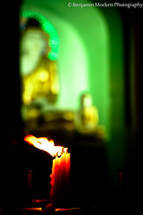 Candles with Buddha