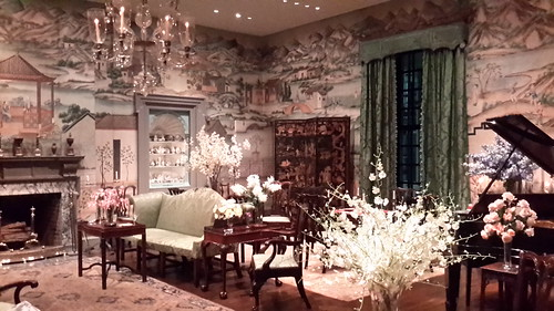 One of the rooms inside Winterthur - this one withhand-painted Chinese wallpaper from the 1700's