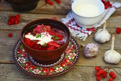 borsch, traditional Ukrainian beet and sour cream…