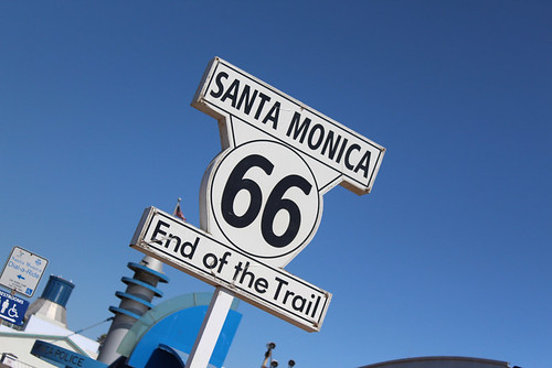 Route 66 End of the Trail on the Santa Monica Pier in California