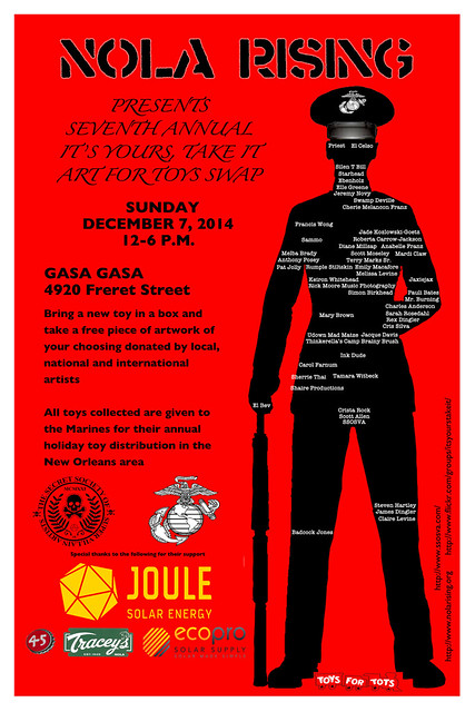 NoLA Rising's - It's Yours, Take IT - December 7th at Gasa Gasa - New Orleans