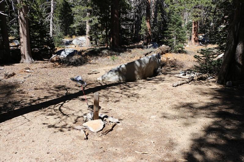 Andesite campsite in the Tamarack Campground