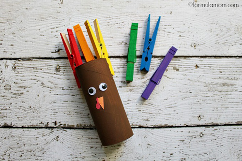Turkey-Craft-Clothespin-Turkey-Roll-Craft