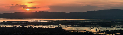 travel sunset panorama river burma hill royal palace myanmar division mandalay reise ayerwaddy königsstadt königspalaast
