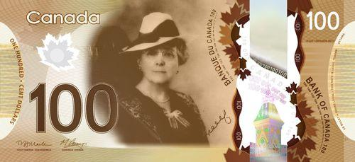 Canadian banknote idea - Lucy Maud Montgomery