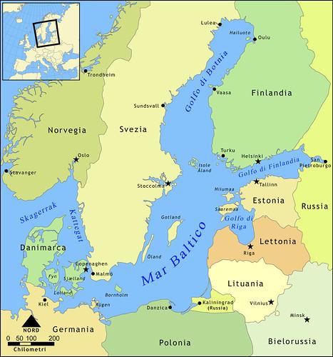 Repubbliche baltiche mappa