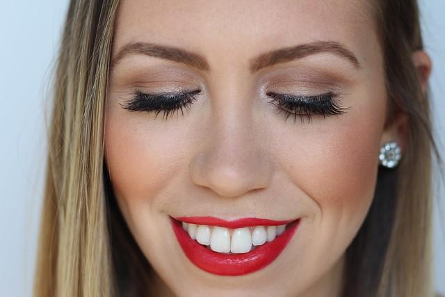 Red Lipstick & False Lashes | Makeup | #LivingAfterMidnite