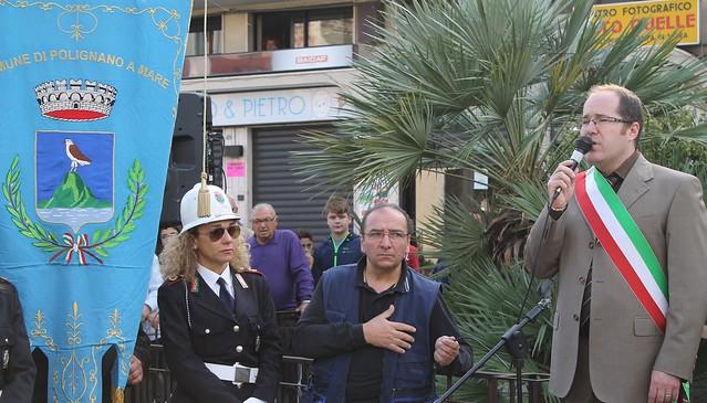 paolo l'abbate vigili urbani polignano festa 4 novembre 2014