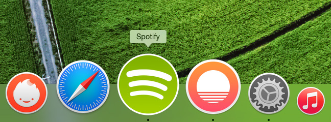 OSX Yosemite dock icons - Spotify