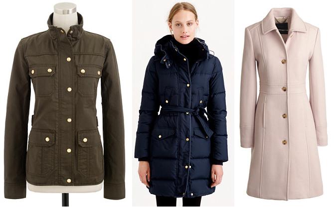 jcrew coats