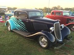 automobile, vehicle, compact car, hot rod, antique car, sedan, ford model b, model 18, & model 40, vintage car, land vehicle, luxury vehicle, motor vehicle,