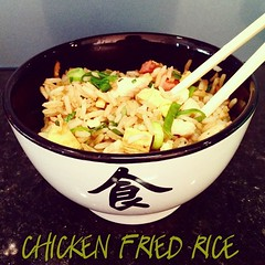 Tonight's #dinner #chickenfriedrice #yum #hun…