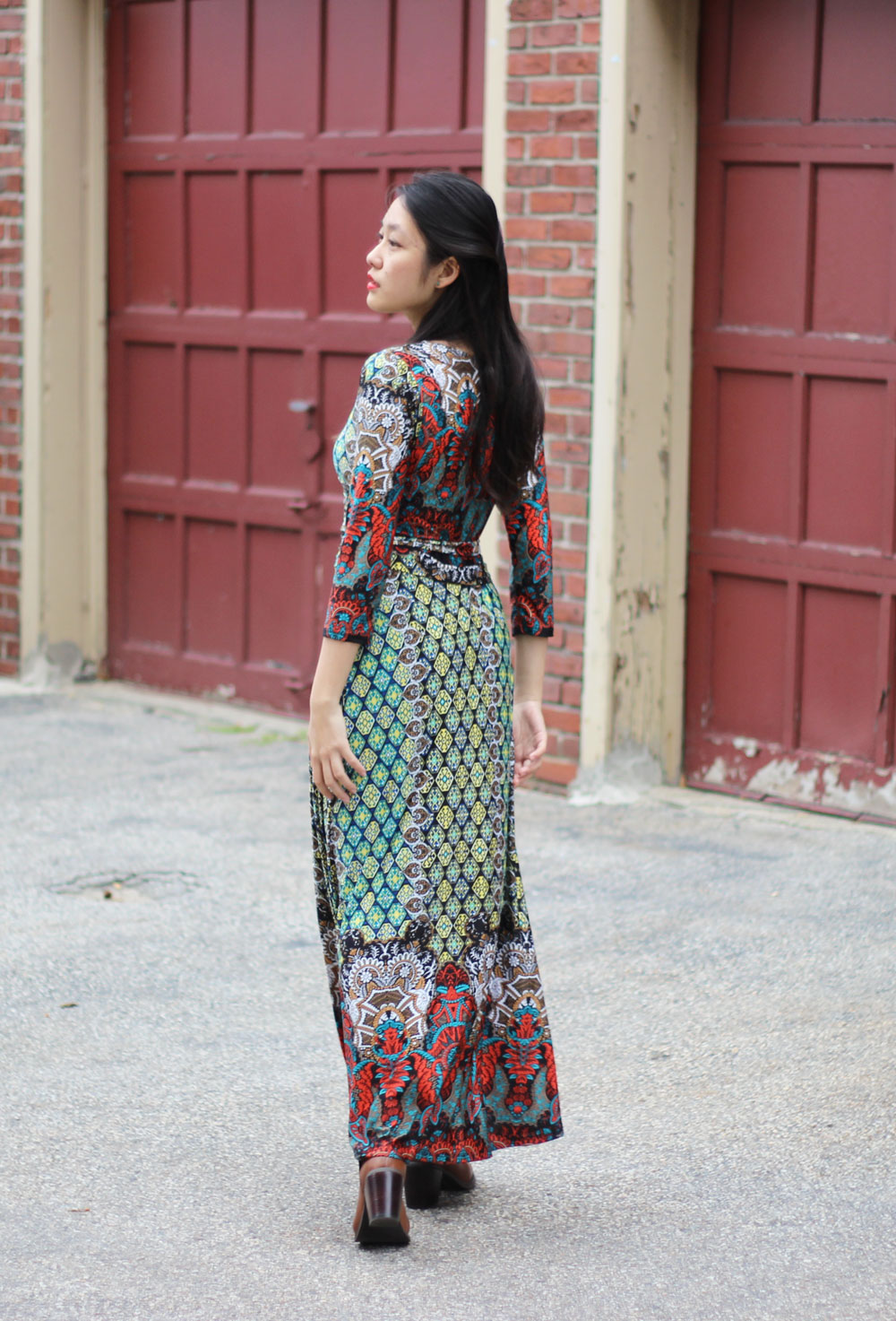 Daily look Colorful Mixed Print Maxi Dress