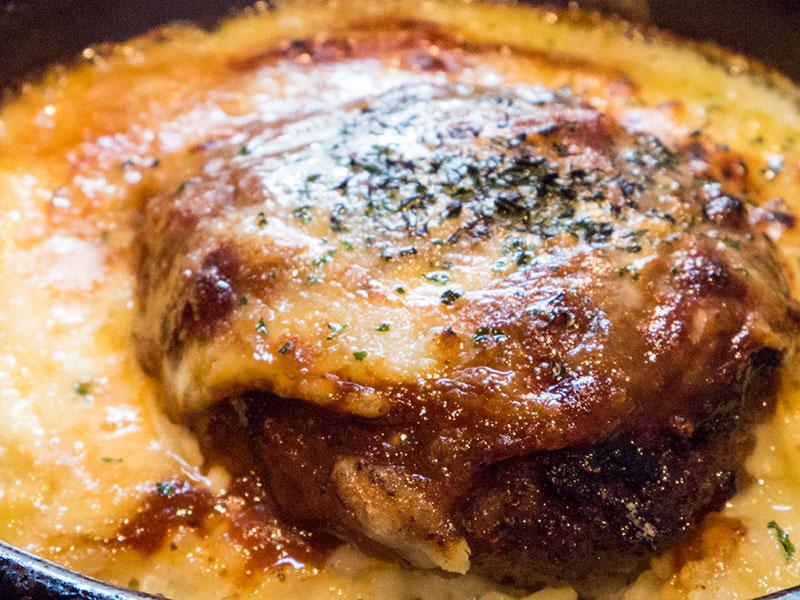 焦がしチーズのゴボウハンバーグドリアセット