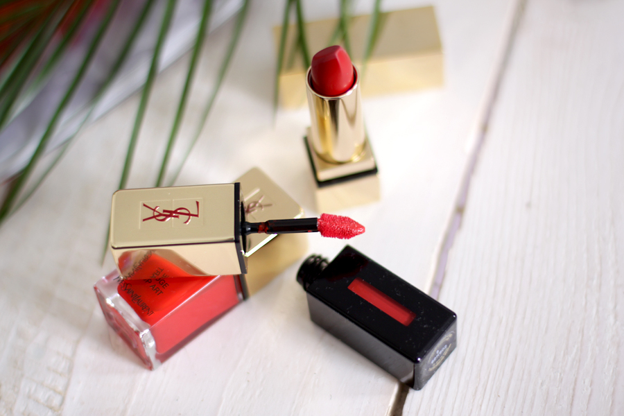 YSL Yves Saint Laurent make up beauty minimal red lipstick nail polish beautiful inspiration blogger ricarda schernus cats & dogs