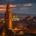 Shandon Steeple At Dusk by Hughie O'Connor