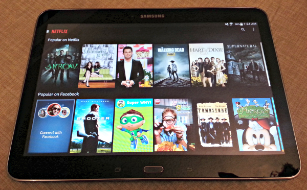BuyDig.com Samsung Galaxy Tab 4 Netflix