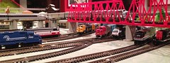 A busy intersection in my N scale layout
