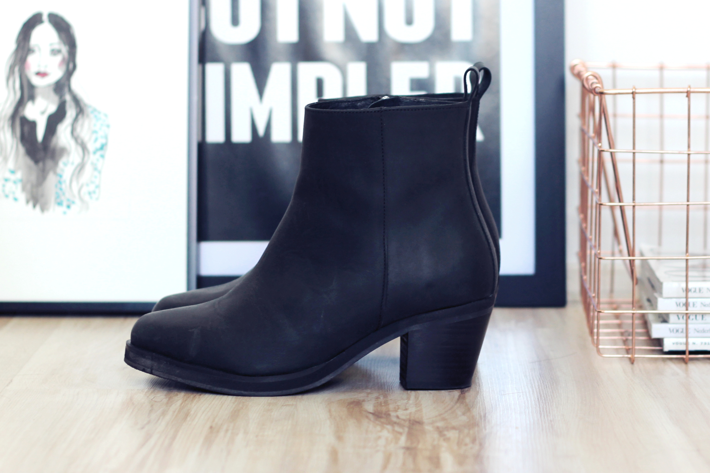 Give away ankle DUO boots october 2014 fashion blogger