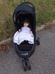 10.20.2014 :: tiny baby, giant stroller