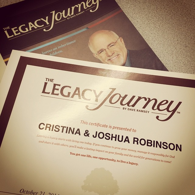 Seven weeks later we did it! What an awesome and humbling experience! #DaveRamsey #LegacyJourney