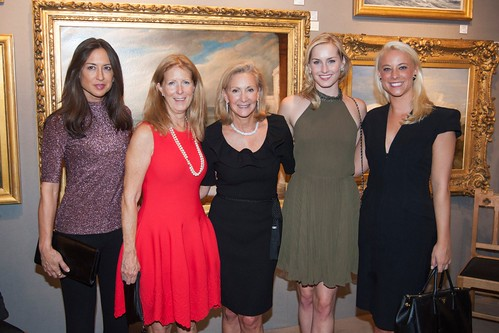 Teresa Colley, Cathy Nassau, Karen Klopp, Ginna le Vine, Susy Schieffelin==.The SOCIETY of MEMORIAL SLOAN KETTERING 26th Annual Preview Party for THE INTERNATIONAL FINE ART & ANTIQUES SHOW==.Park Avenue Armory, NYC==.October 16, 2014==.©Patrick