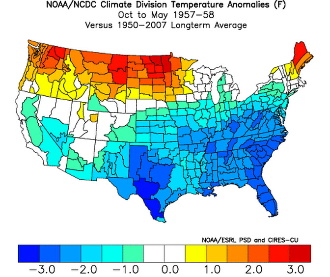 NOAA NCDC Temps 1957