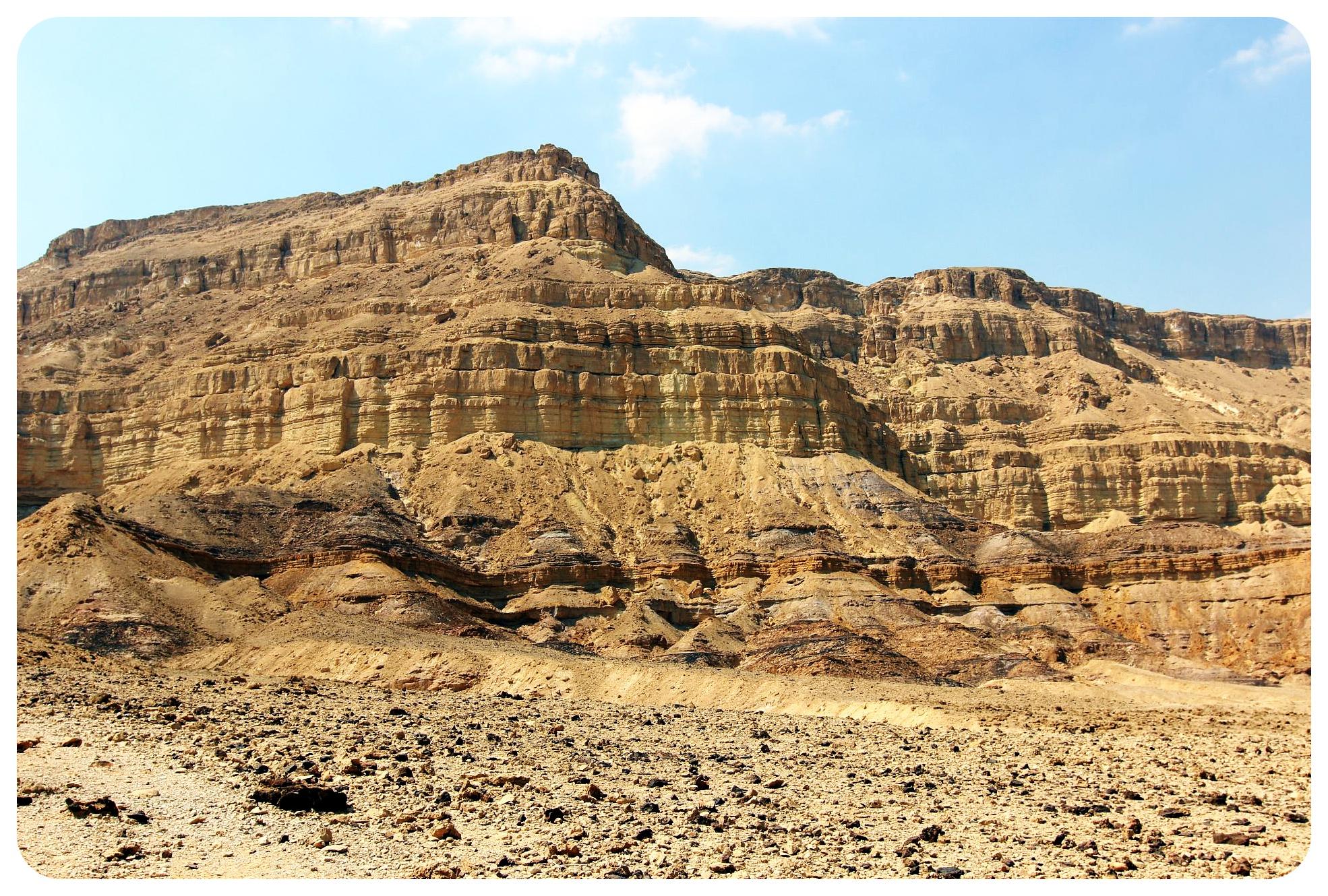 makhtesh katan crater wall israel
