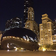 The Bean at night!