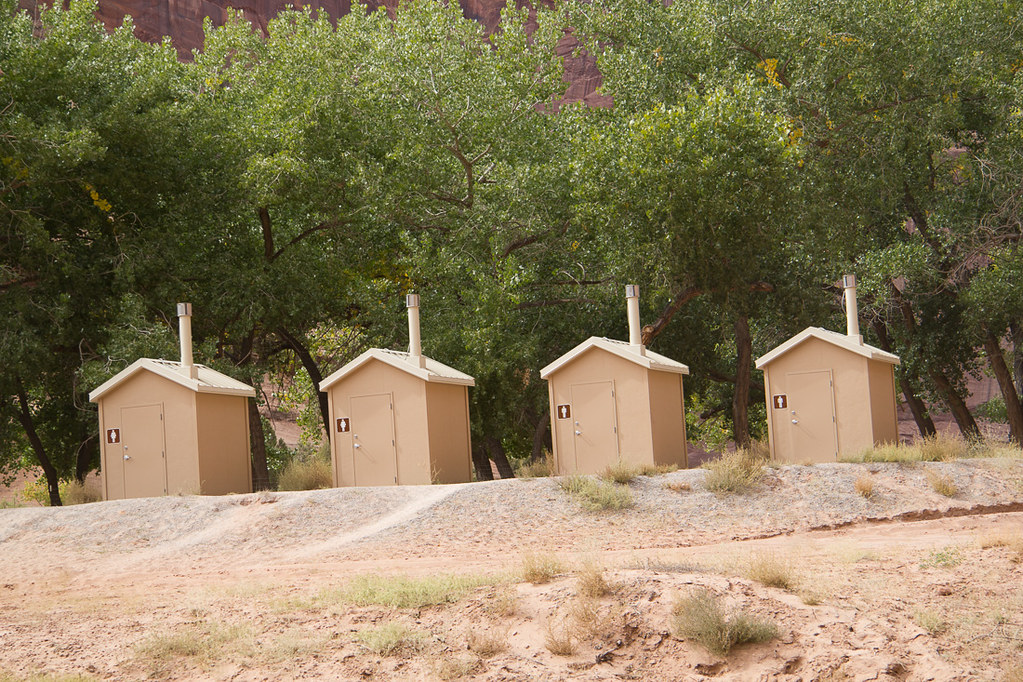 Pit toilets in Canyon de Chelly