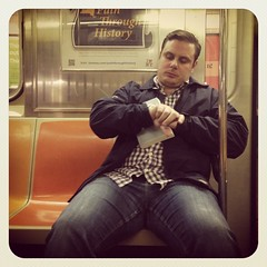Friday night 1 train. #nycsubwayportraits #nyc #train #subway #publictransportation #commute #1train