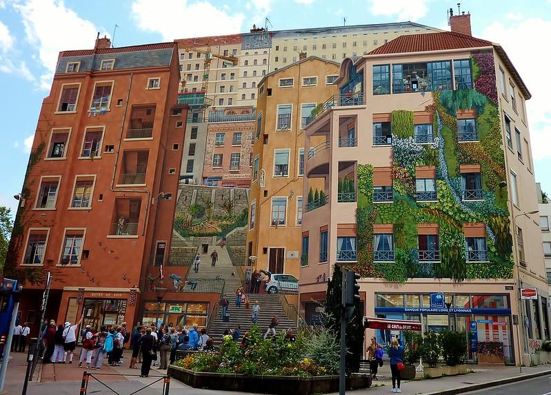 Lyon, fresque des canuts