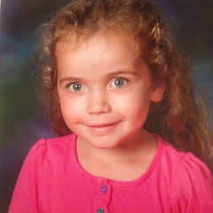 Ashlin's first school picture. #pre-k