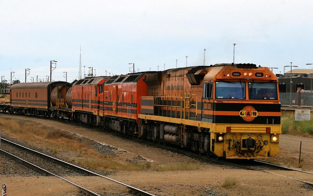 6DA2 GWU002, CLP17 & ALF23 Dry Creek 26/10/14 by Trackside Photography Australia