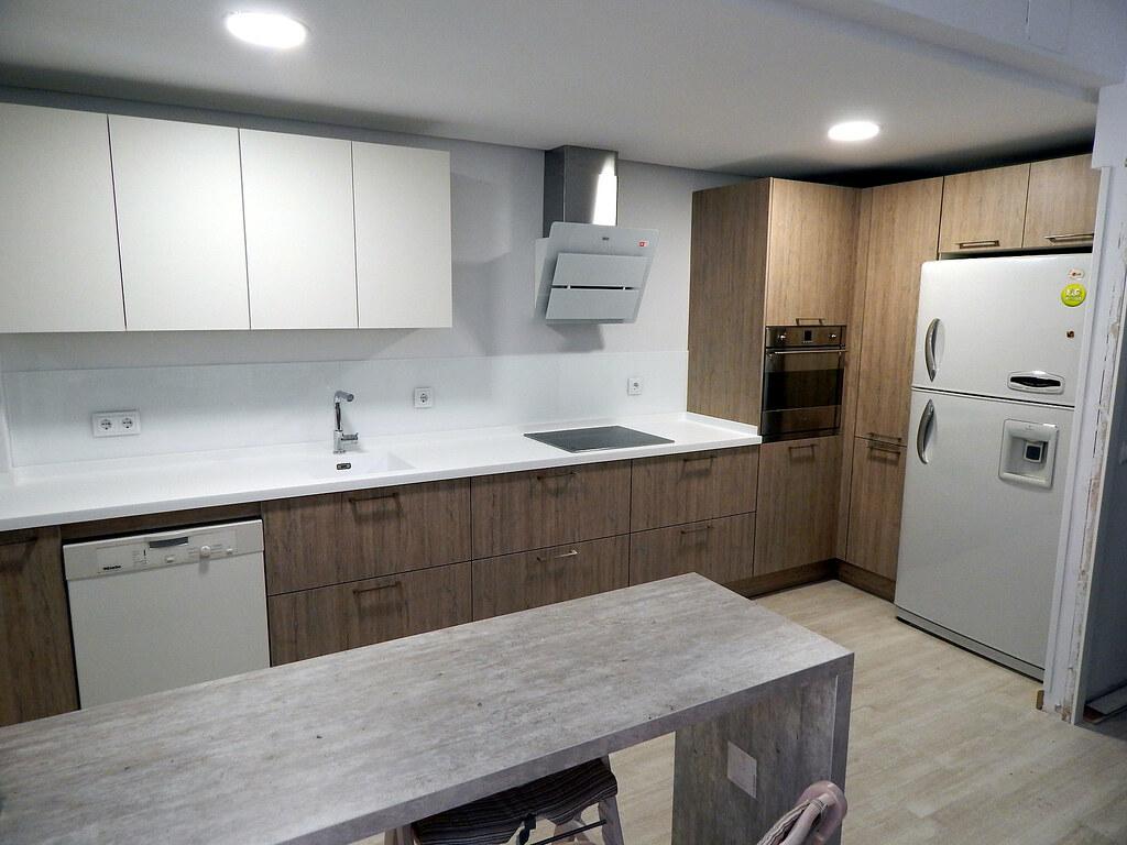 muebles de cocina en roble gris seda