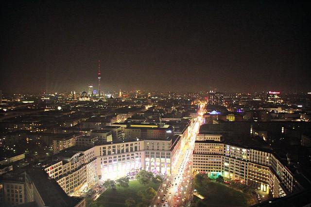 Leipziger Platz & Leipziger Strasse at Night