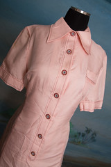 textile, clothing, collar, dress shirt, sleeve, outerwear, pocket, button, shirt, pink,