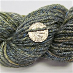 Stormy Waters handspun, close up