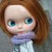 Blythe knitting capelet